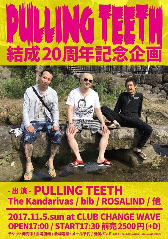 PULLING TEETH結成20周年記念企画